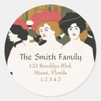 Three Ladies Address Label Stickers