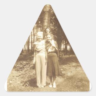 Three Ladies Triangle Sticker