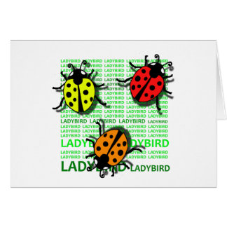 Three Ladybirds Card
