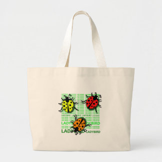 Three Ladybirds Large Tote Bag