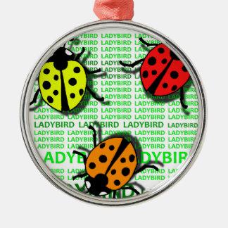 Three Ladybirds Metal Ornament
