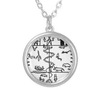 Three Layers of Life Silver Plated Necklace