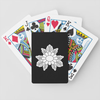 Three leaf asters bicycle playing cards