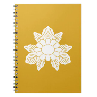 Three leaf asters spiral notebook