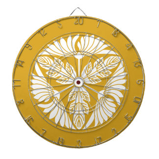 Three leaf chrysanthemums dartboards