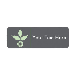 Three Leaves and Circle Return Address Label