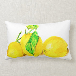 three lemons lumbar pillow