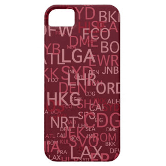 Three-Letter Airport Codes Red iPhone 5 Case