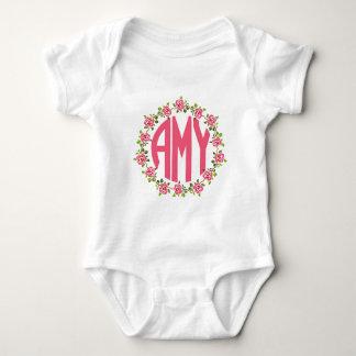 Three Letter Monogram AMY - Girl's Name Baby Bodysuit