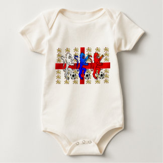 Three Lions football fans England Baby grow gift Baby Bodysuit