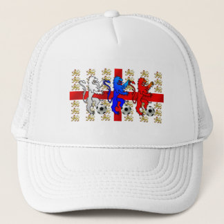 Three Lions football lovers peak baseball cap
