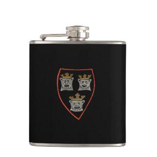 Three Lions - hip flask