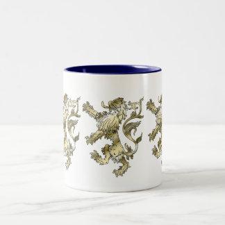 Three lions shaded gifts Two-Tone coffee mug