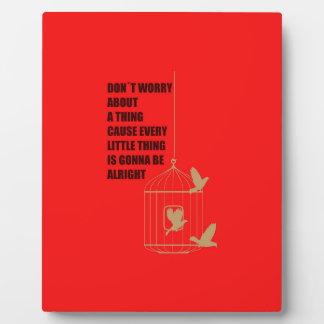 Three Little Birds Plaque