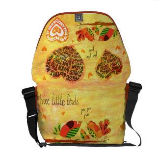 Three Little Birds - song Messenger Bag