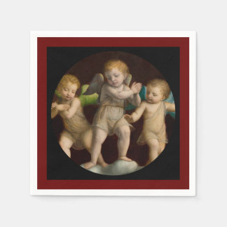 Three Little Cherubs or Angels Disposable Napkin