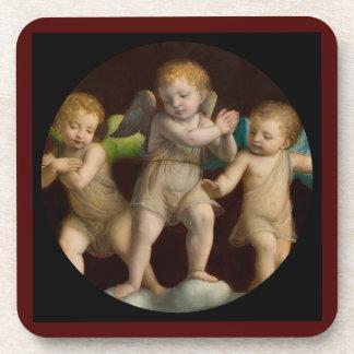 Three Little Cherubs or Angels Drink Coasters