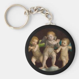 Three Little Cherubs or Angels Keychain