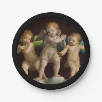 Three Little Cherubs or Angels Paper Plate