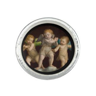 Three Little Cherubs or Angels Photo Rings