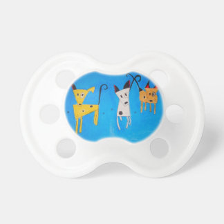 Three little dogs to pacifier