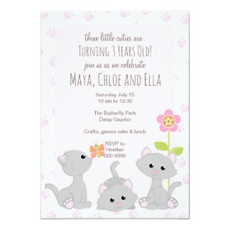 Three Little Kittens Invitation
