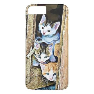 Three Little Kittens Peeking Out Phone Case