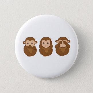 Three little monkeye 2 inch round button
