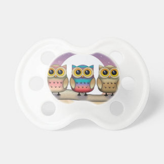 Three Little Owls Baby Binky Pacifier