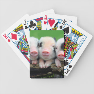 Three little pigs - cute pig - three pigs bicycle playing cards