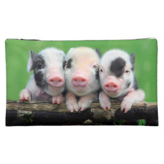 Three little pigs - cute pig - three pigs cosmetic bag