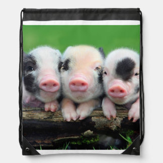 Three little pigs - cute pig - three pigs drawstring bag