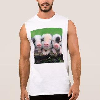 Three little pigs - cute pig - three pigs sleeveless shirt