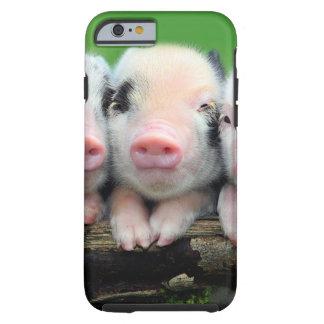Three little pigs - cute pig - three pigs tough iPhone 6 case