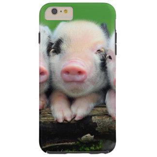 Three little pigs - cute pig - three pigs tough iPhone 6 plus case