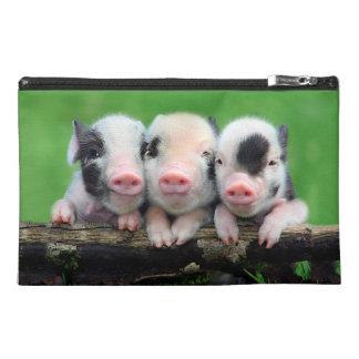 Three little pigs - cute pig - three pigs travel accessory bag