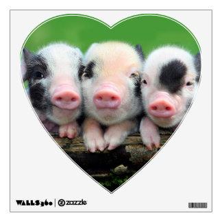 Three little pigs - cute pig - three pigs wall sticker