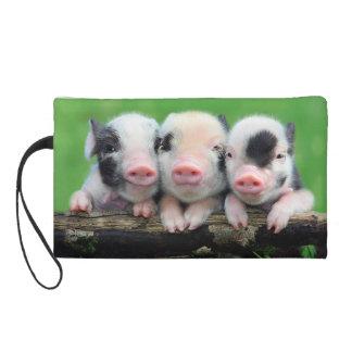 Three little pigs - cute pig - three pigs wristlet