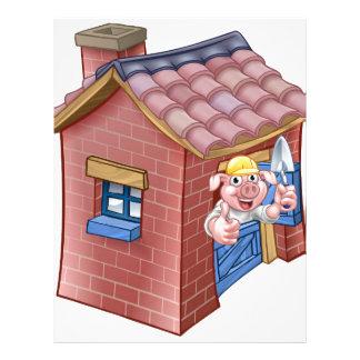 Three Little Pigs Fairy Tale Straw House Letterhead