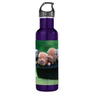 Three little pigs - three pigs - pig hat 710 ml water bottle