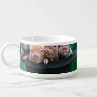 Three little pigs - three pigs - pig hat chili bowl
