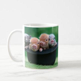 Three little pigs - three pigs - pig hat coffee mug