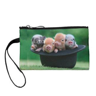 Three little pigs - three pigs - pig hat coin purse