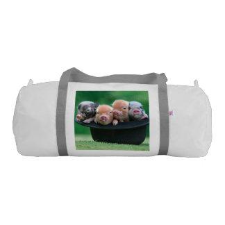 Three little pigs - three pigs - pig hat gym bag