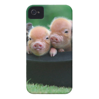 Three little pigs - three pigs - pig hat iPhone 4 Case-Mate cases