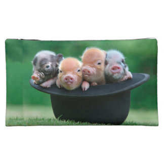 Three little pigs - three pigs - pig hat makeup bag