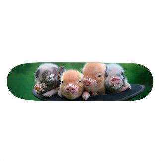 Three little pigs - three pigs - pig hat skateboard decks