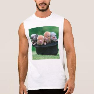Three little pigs - three pigs - pig hat sleeveless shirt