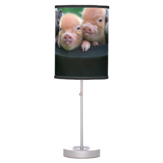 Three little pigs - three pigs - pig hat table lamp