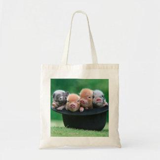 Three little pigs - three pigs - pig hat tote bag